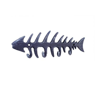 Fish Bone Wall Hook Finish: Purple