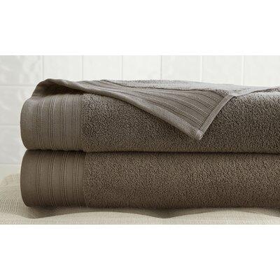 2 Piece 100% Cotton Bath Towel Set Color: Mocha
