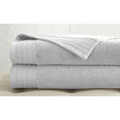 2 Piece 100% Cotton Bath Towel Set Color: White