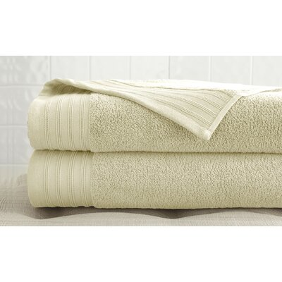 2 Piece 100% Cotton Bath Towel Set Color: Ivory