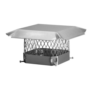 "Steel Slip-On Chimney Cap Size: 12"" x 16"""