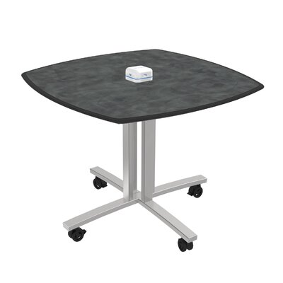 """Square 29""""H x 36""""W x 36""""L Conference Table Top Finish: Brushed Pewter"""