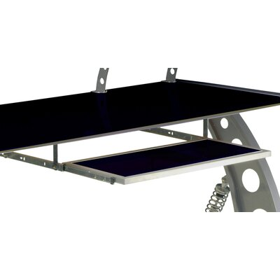 "1"" H x 28"" W Desk Keyboard Tray Finish: Black"