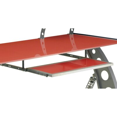 "1"" H x 28"" W Desk Keyboard Tray Finish: Red"