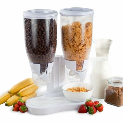 Dry Food Double 14 Oz. Cereal Dispenser