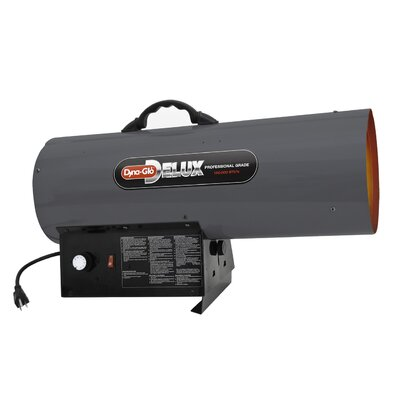 150,000 BTU Portable Natural Gas Forced Air Utility Heater with Continuous Electronic Ignition