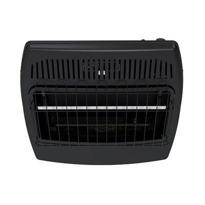 30,000 BTU Wall Mounted Dual Fuel T-Stat Vent-Free Garage Heater