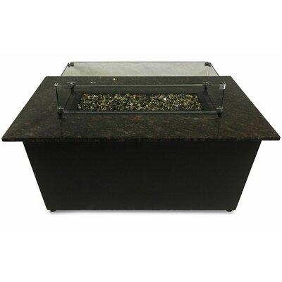 The Monaco Aluminum Gas Fire Pit Table Top Color: Tan Brown