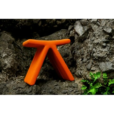 PI Cat A Oslo Fabric Stool Color: Orange