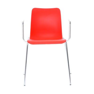 Leo Arm Chair Upholstery: Orange
