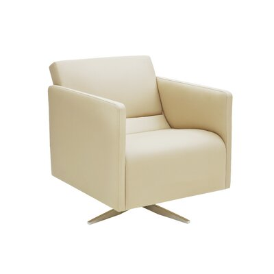 Slim Swivel Cat A Arm Chair Upholstery: Sabine White