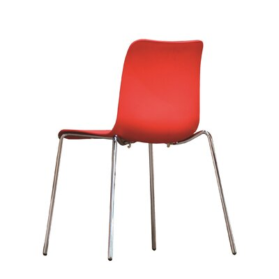 Leo Side Chair Finish: Red