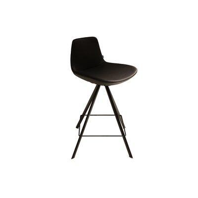 """Fechteler 29"""" Swivel Bar Stool Upholstery: Black"""