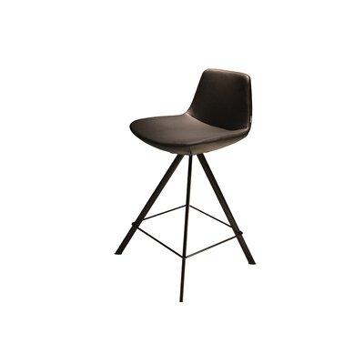 """Fechteler 24"""" Swivel Bar Stool Upholstery: Black"""