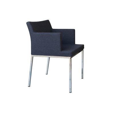 Soho Metal Base Wool Arm Chair