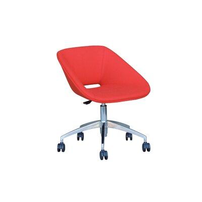 Grader Desk Chair Color: Red