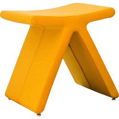 PI Cat A Oslo Fabric Stool Color: Yellow