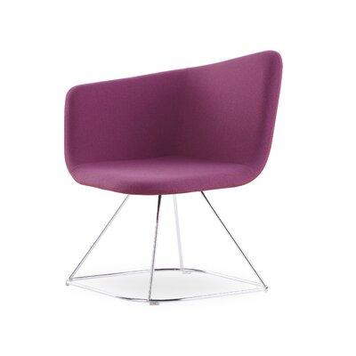 Ehmann Swivel Guest Chair Finish: Chrome, Seat Color: Fuschia