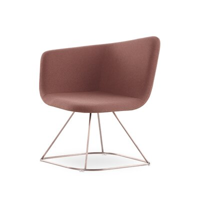 Ehmann Swivel Guest Chair Finish: Gold, Seat Color: Rose Gold