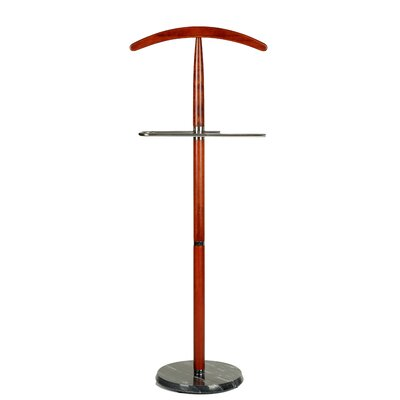Cambridge Suit Valet Stand in Cherry Wood