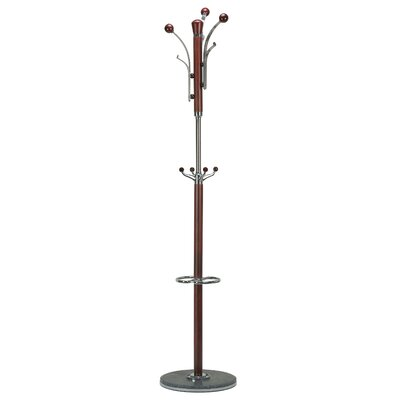Alpine Marble Coat Rack Finish: Dark Red-Brown