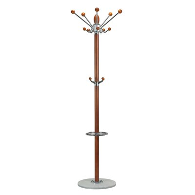 Lava Marble Coat Rack Finish: Light Deep Cherry