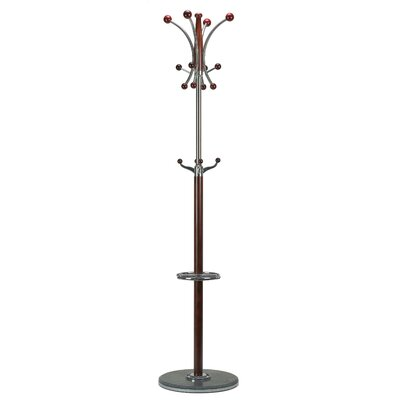 Octopus Marble Coat Rack Finish: Dark Cherry