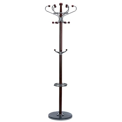 Optima Marble Coat Rack Finish: Dark Cherry
