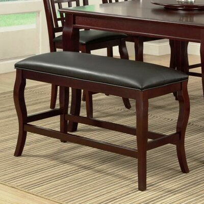 Burgos Upholstered Bench Color: Cherry