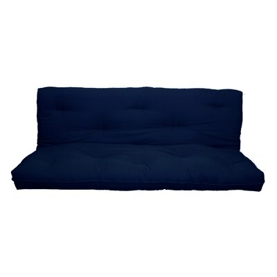 """10"""" Replacement Innerspring Full Size Futon Mattress Color: Navy Blue"""