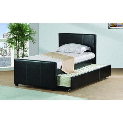 Davon Trundle Platform Bed Bed Frame Color: Black, Size: Full