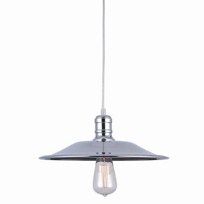 "Astor Court 1-Light Cone Pendant Size: 5.5"" H x 14"" W x 14"" D"