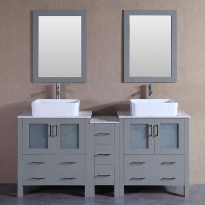 "Essie 71"" Double Bathroom Vanity Set with Mirror"