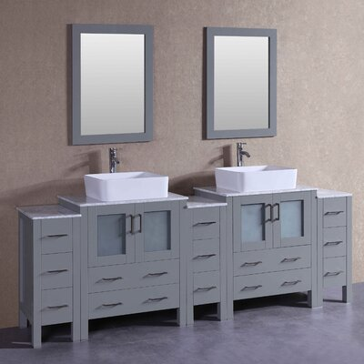 "Ernest 96"" Double Bathroom Vanity Set with Mirror"