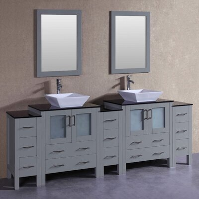 "Chelsea 96"" Double Bathroom Vanity Set with Mirror"