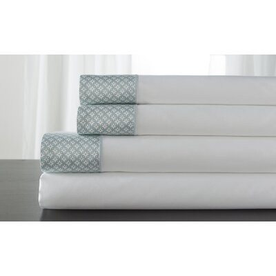 Adara 400 Thread Count 100% Cotton Sheet Set Color: Spa, Size: Full