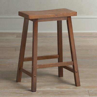 """Collier Stool Seat Height: 24"""", Finish: Walnut"""
