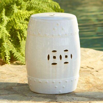 Glazed Ceramic Garden Stool Finish: Cream