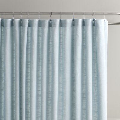 Amanda Cotton Shower Curtain Color: Aqua/Grey