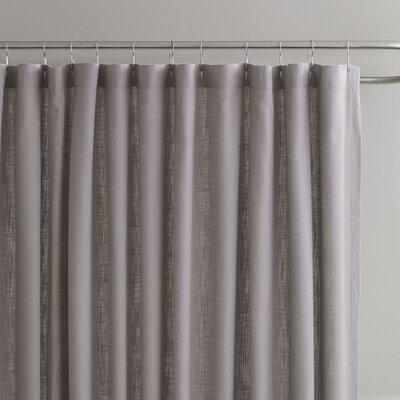 Amanda Cotton Shower Curtain Color: Pewter