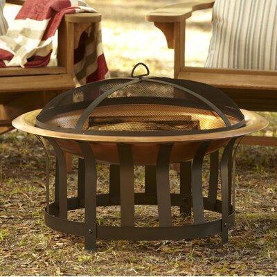Crimson Copper Charcoal Fire Pit