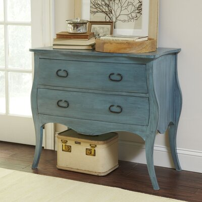 Leena 2 Drawer Accent Chest Color: Blue