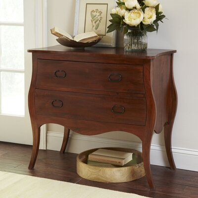 Leena 2 Drawer Accent Chest Color: Mahogany