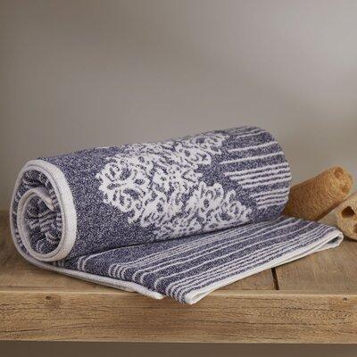 Katie 100% Cotton Bath Towel Color: Ocean Blue