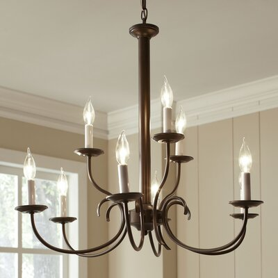Robbins 9-Light Chandelier Finish: Brushed Nickel