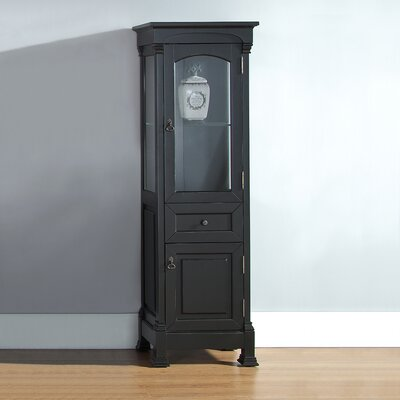 Stockbridge Vanity Accent Cabinet Color: Antique Black