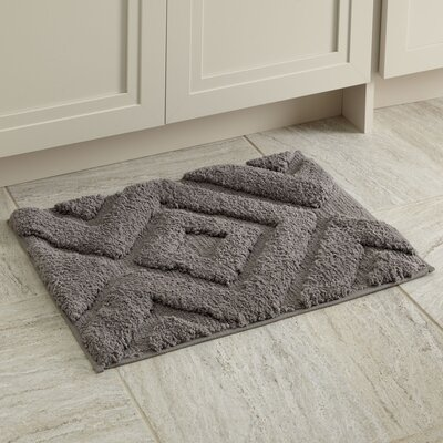 "Alicia Bath Mat Size: 17"" x 24"", Color: Light Gray"