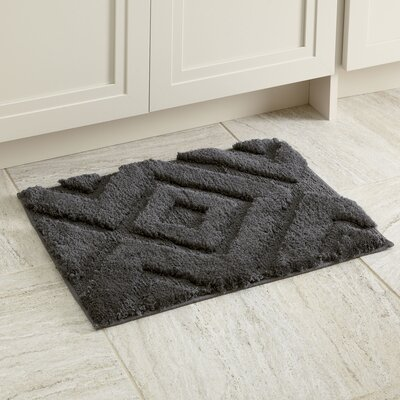 "Alicia Bath Mat Size: 17"" x 24"", Color: Gray"