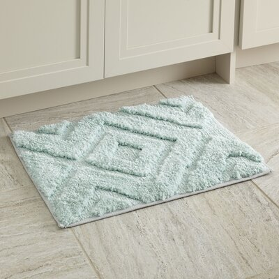 "Alicia Bath Mat Size: 17"" x 24"", Color: Aqua"