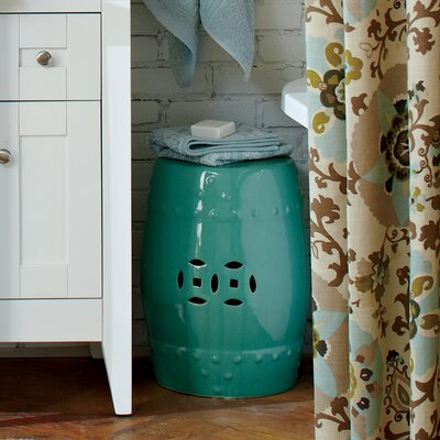 Glazed Ceramic Garden Stool Finish: Light Blue